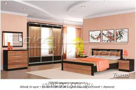 Спальня Токио (слива валлис) со шкафом-купе